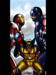 Finished! Ironman vs Captain America ~ Variant