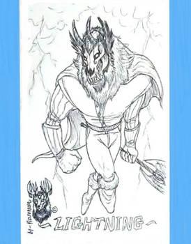 Inktober day 14 ~ Lightning ~ Sketch