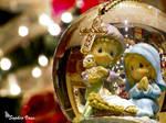 Cross Christmas Snow Globe v2 by BttrflyKisses