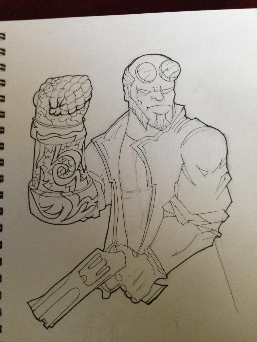 Hellboy by cytukyl