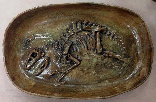 Dinosaur Dig Platter by ElysLullabye