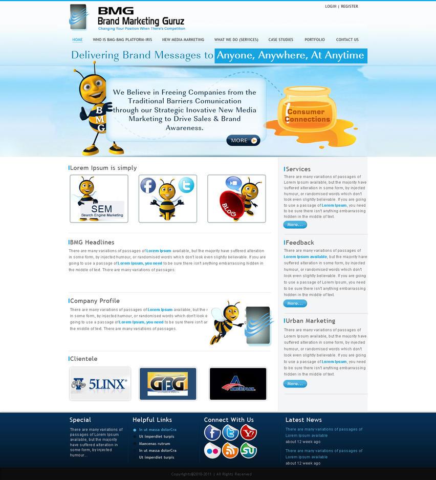 bmg website template by think360studio on deviantart. Black Bedroom Furniture Sets. Home Design Ideas