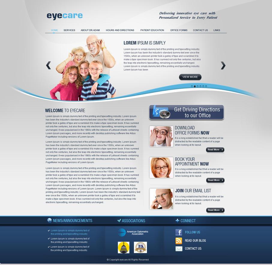 eyecare website template by think360studio on deviantart. Black Bedroom Furniture Sets. Home Design Ideas