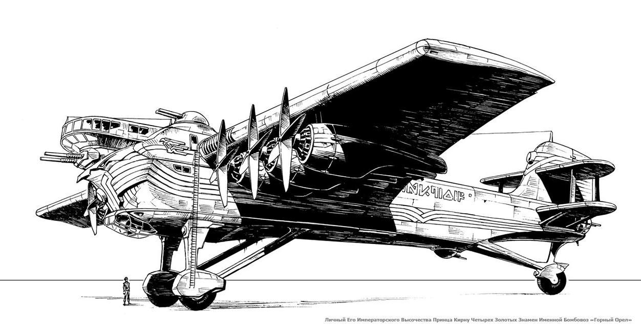 dieselpunk bomber by Lipatov