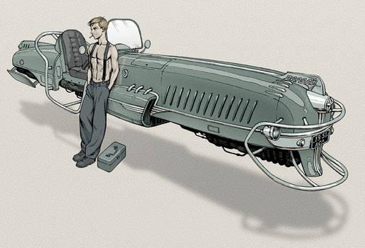 Dieselpunk hovercraft