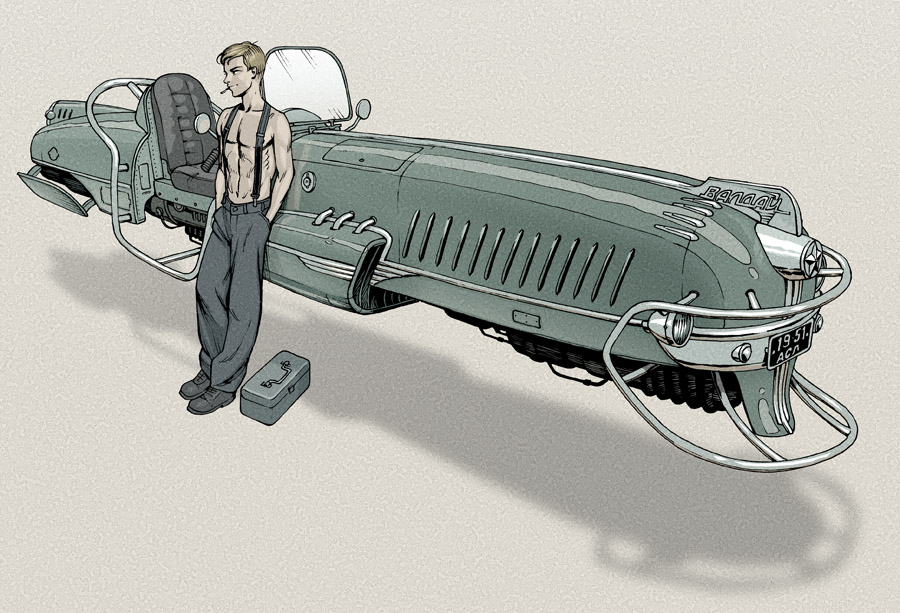 Dieselpunk hovercraft by Lipatov