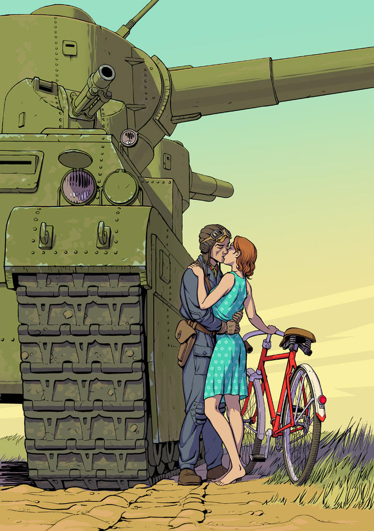 http://pre10.deviantart.net/70e8/th/pre/f/2011/053/d/8/bicycle_and_tank_by_lipatov-d3a5sbe.jpg