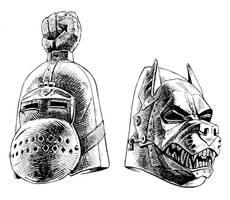 ASOIAF: helmets by Lipatov