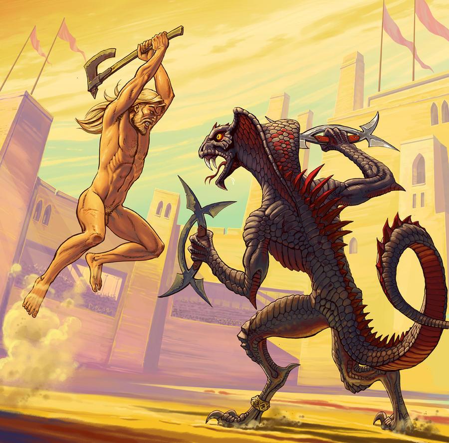 Xandr vs. Snake-Man by Lipatov
