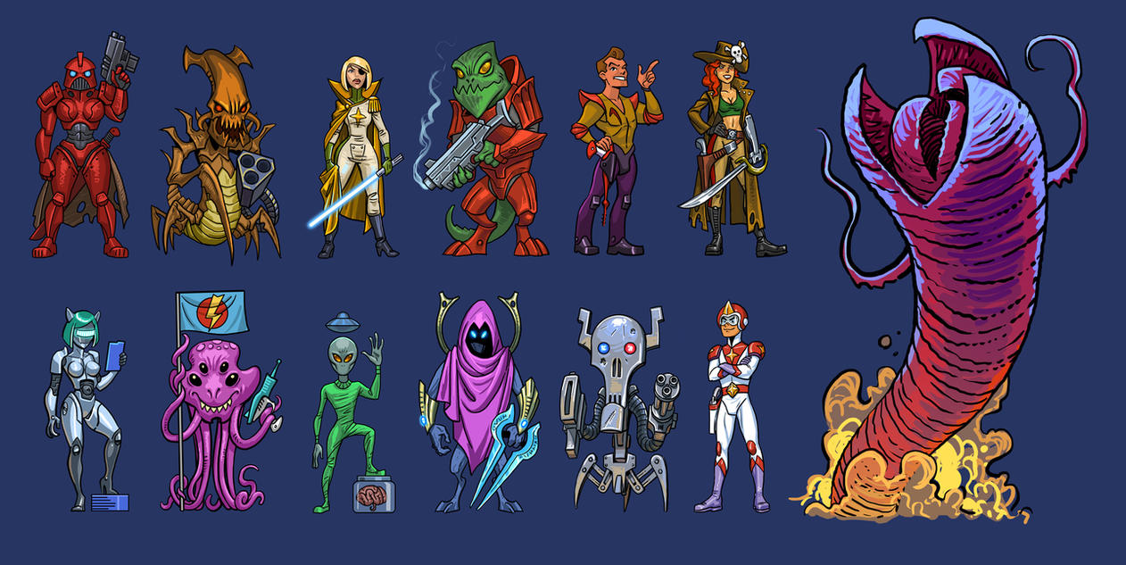 Space Opera Doodles by Lipatov
