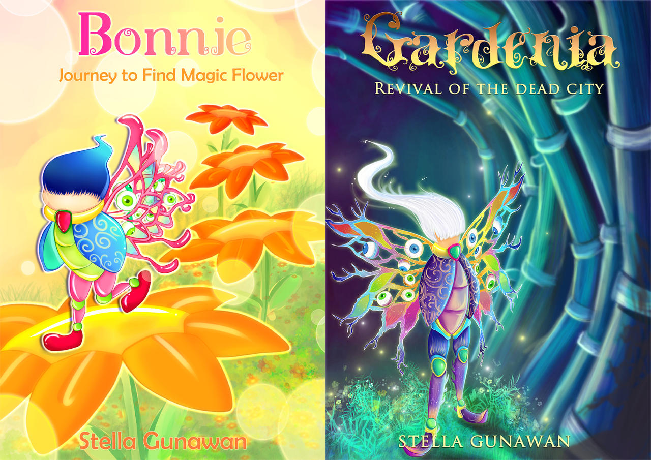 Kids Art Book Cover : Fantasy and children book cover by stellagunawan on deviantart