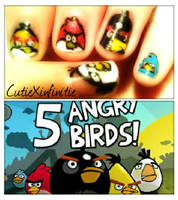 Angry Birds Nails! by CutieXinfinitie