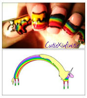 Lady Rainicorn! Adventure Time Nails 2 by CutieXinfinitie