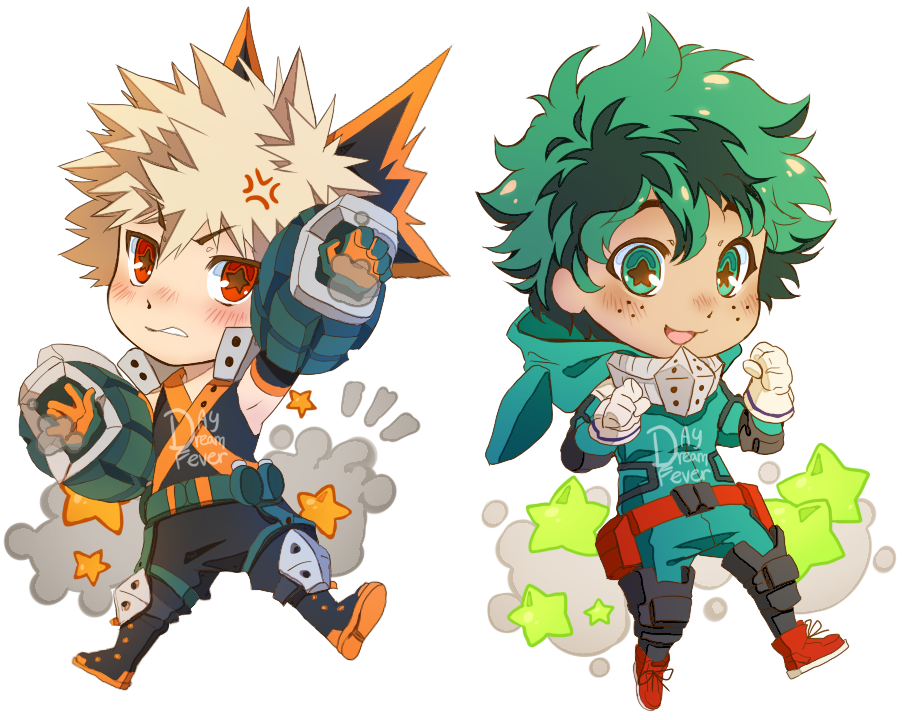 Bakugou And Deku Chibi By Day Dream Fever On Deviantart