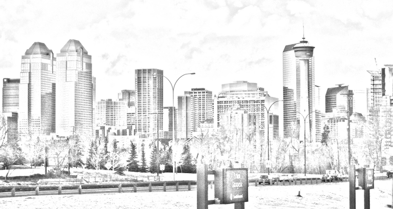 Image result for calgary skyline drawing