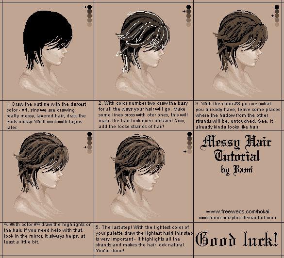 Tutorial Messy Hair By Rami Crazyfox On Deviantart