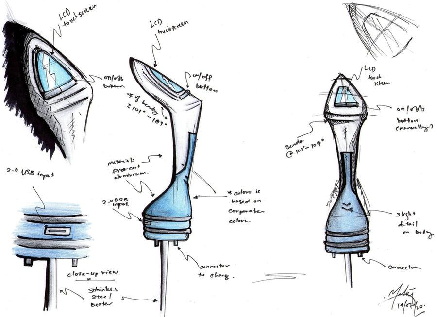 Drawing Hand Mixer ~ Concept sketch of hand mixer by kukubird on deviantart
