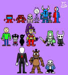 Characters from indie games
