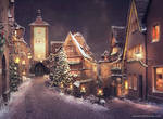 Christmas street by NM-art