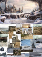 Winter In The Town of Blue Roofs  Before and After by NM-art