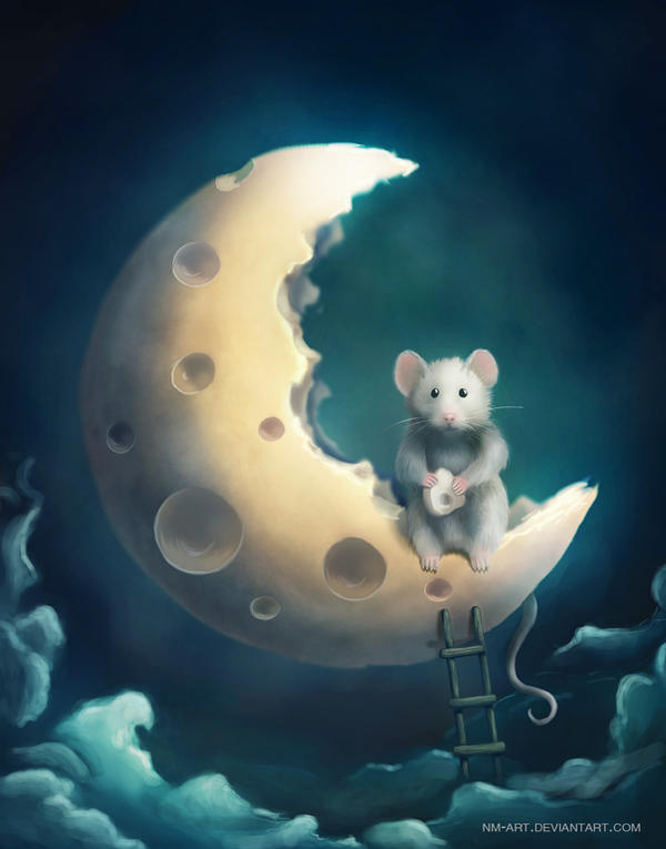 Lunar mouse by NM-art