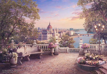 Evening walk in Budapest by NM-art
