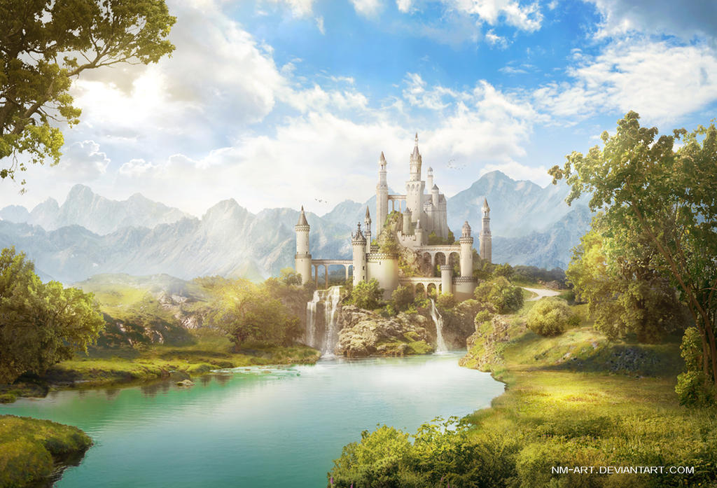 Real Fairytale Landscapes White Castle by NM-art...