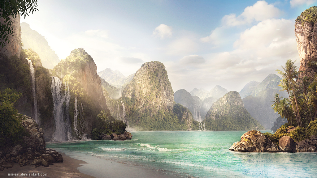 Sea - background for game by NM-art