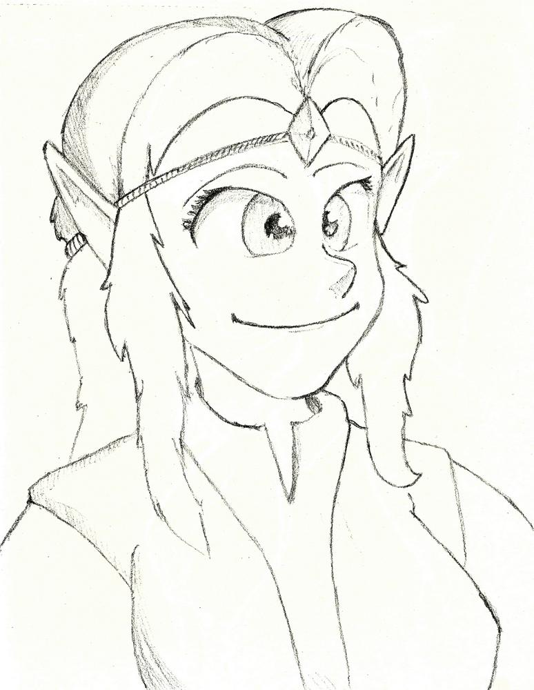 The graceful, majestic princess (Zelda CDI - WoG) by Vinceinovich