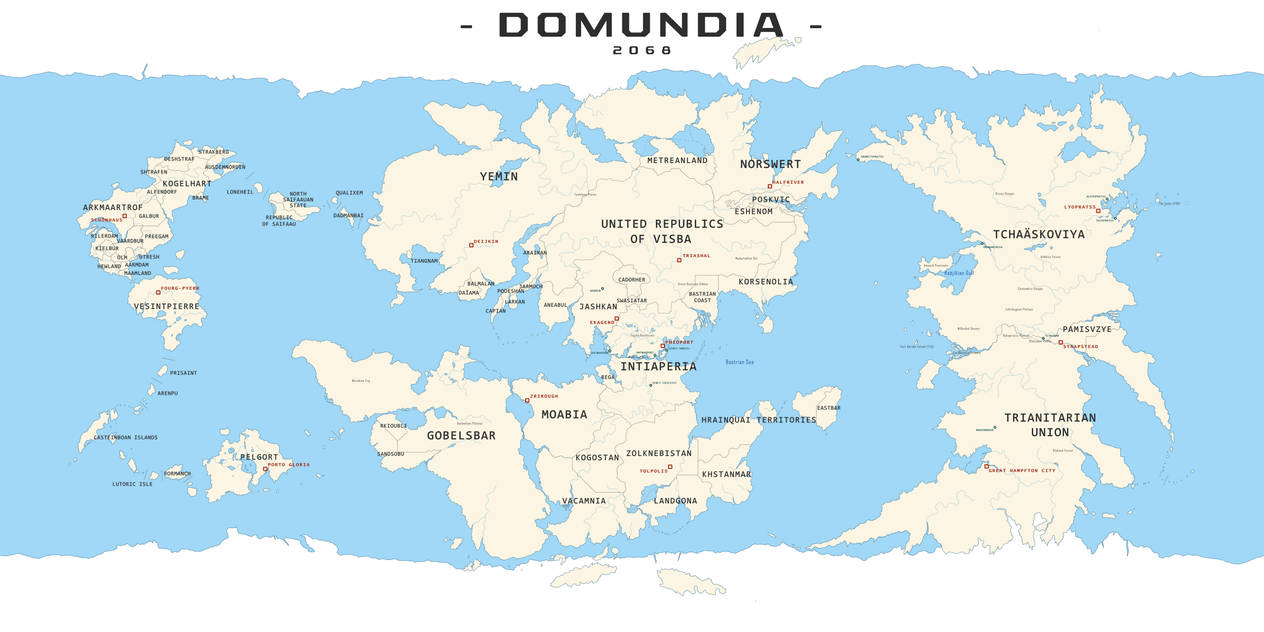 Domundia World Map
