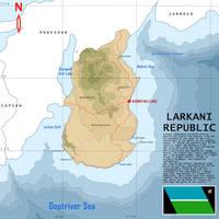 Larkan Country Map