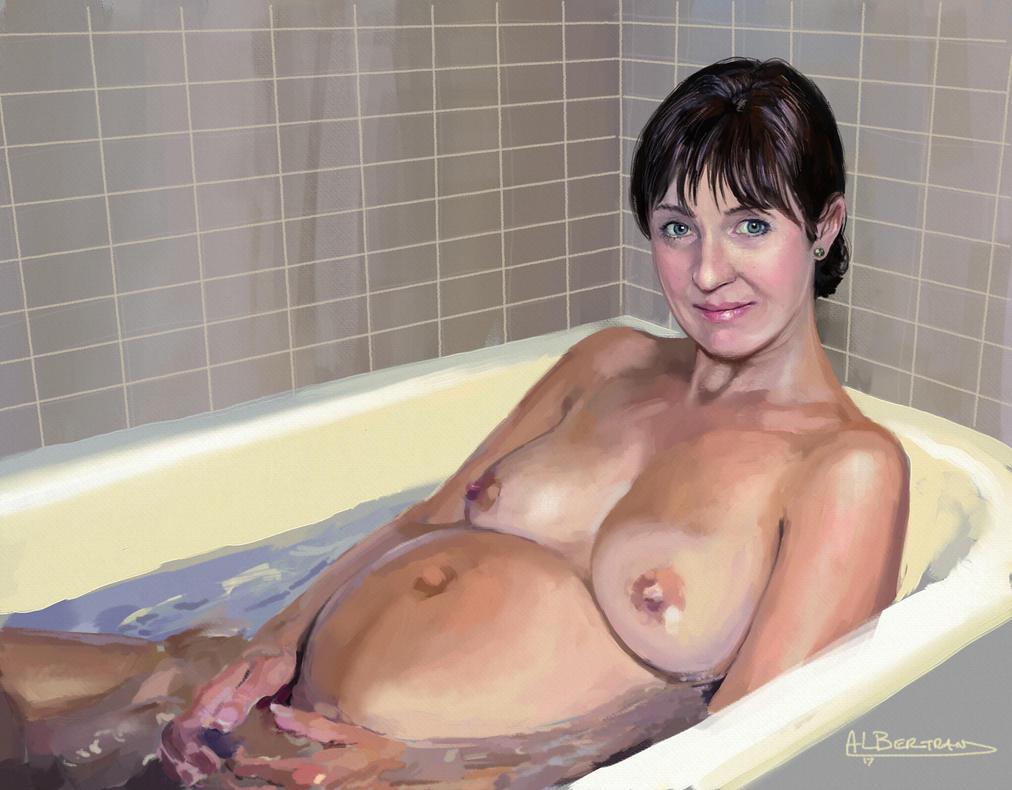Nude Mature Bath 95