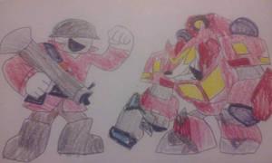Portal Heroes Red Soldier vs Stoackade