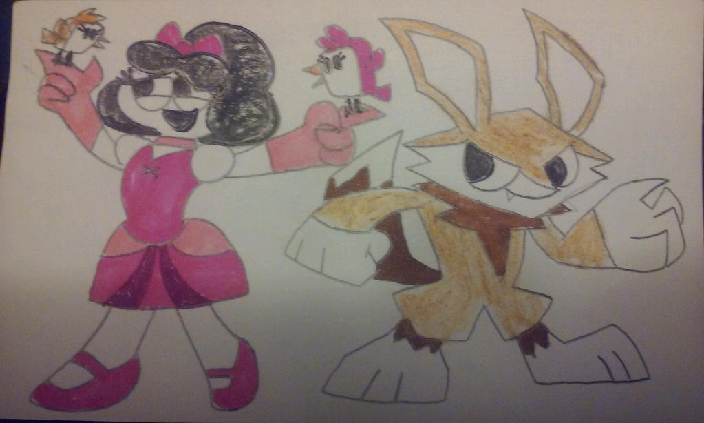 Portal Heroes Ella vs Fox King by ZillaMan24