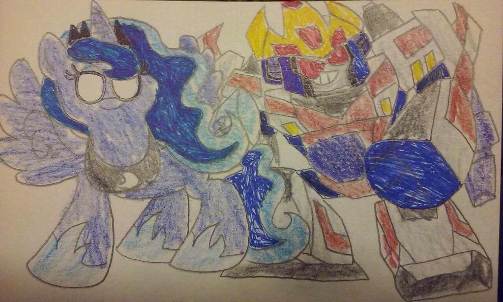 Portal Heroes Princess Luna vs King Starscream  by ZillaMan24