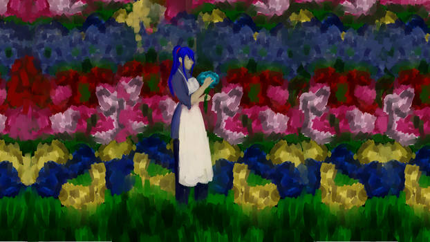 Tending to the Flowers. by MikuVaile
