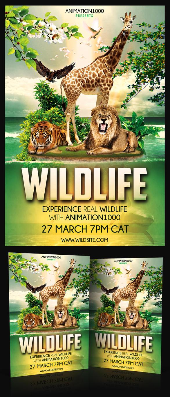 Wildlife Flyer Template PSD by MadFatSkillz