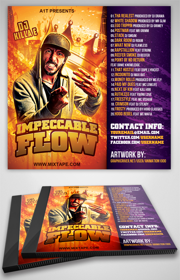Impeccable Flow Mixtape Cover Template by MadFatSkillz