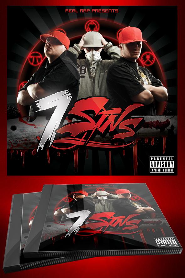 Hip Hop Mixtape / Flyer or CD Template - 7 Sins by MadFatSkillz