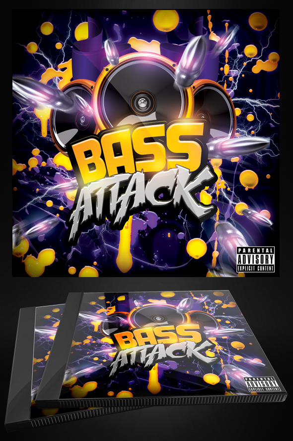 Bass Attack - Electro Flyer or CD Template by MadFatSkillz