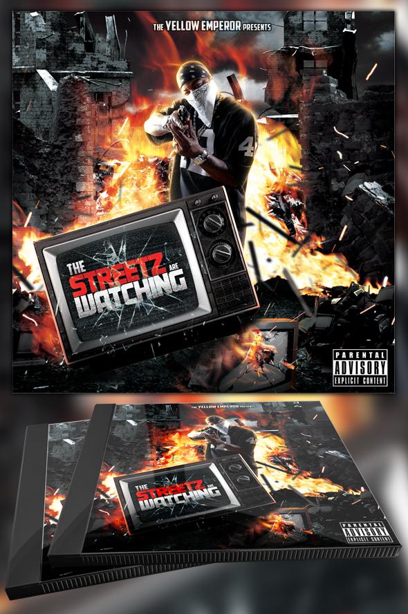 Streetz are Watching Mixtape/CD Template by MadFatSkillz