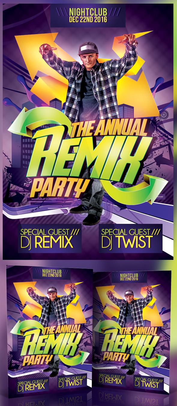 Remix Party Flyer by MadFatSkillz