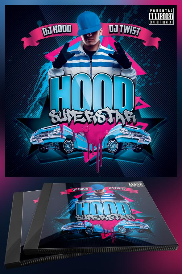 Hood Superstar CD Cover Template by MadFatSkillz