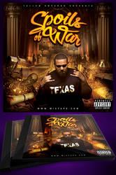 Spoils Of War CD Mixtape Cover Template by MadFatSkillz