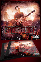 Gods Of Rock CD Cover Template by MadFatSkillz