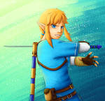 Link is about to swing that sword... right at you.