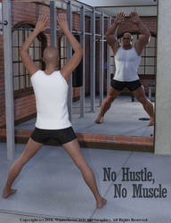 No Hustle - No Muscle, WORKOUT Poster by Winterbrose-AandG