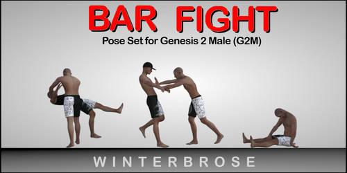 Bar Fight Poses G2M - Scene 02 by Winterbrose-AandG