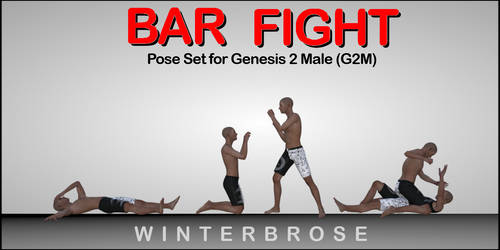 Bar Fight Poses G2M - Scene 04 by Winterbrose-AandG
