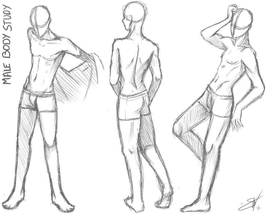 Male body study - Take two by SoraCooper on DeviantArt